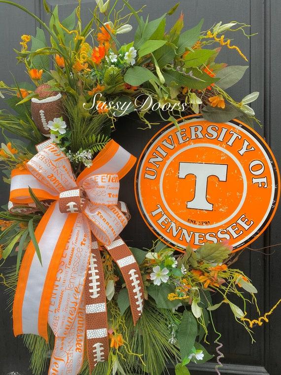 Tennessee University, Tennessee Wreath, Tennessee College Wreath, Football Wreath University,Collegiate Wreath, SassyDoors Wreath