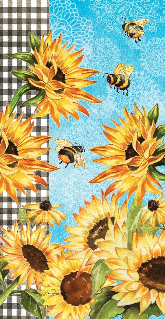 Sunflower Flag, Bumble Bee  Flag, Garden Flag, Garden Flag