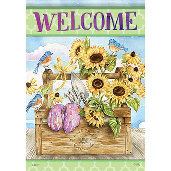 Summer Flag, Flag, Garden Flag, Flag With Sunflowers, Carson Flag, Welcome Home Flag, Garden Flag-
