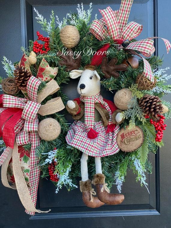 Christmas Wreath Woodland Christmas Wreath, Christmas Wreath, Farmhouse Christmas Wreath