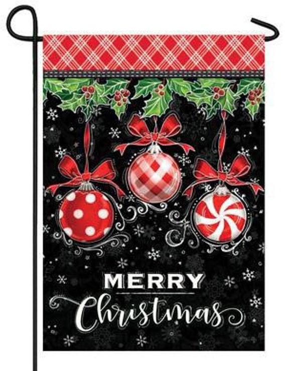 Merry Christmas Garden Flag- Christmas Ornaments Garden Flag-