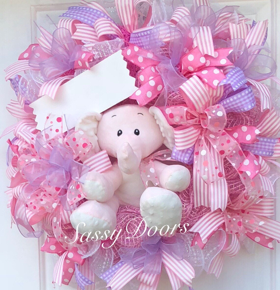 Baby Wreath Nursery Wreath Hospital Door Wreath Welcome Baby