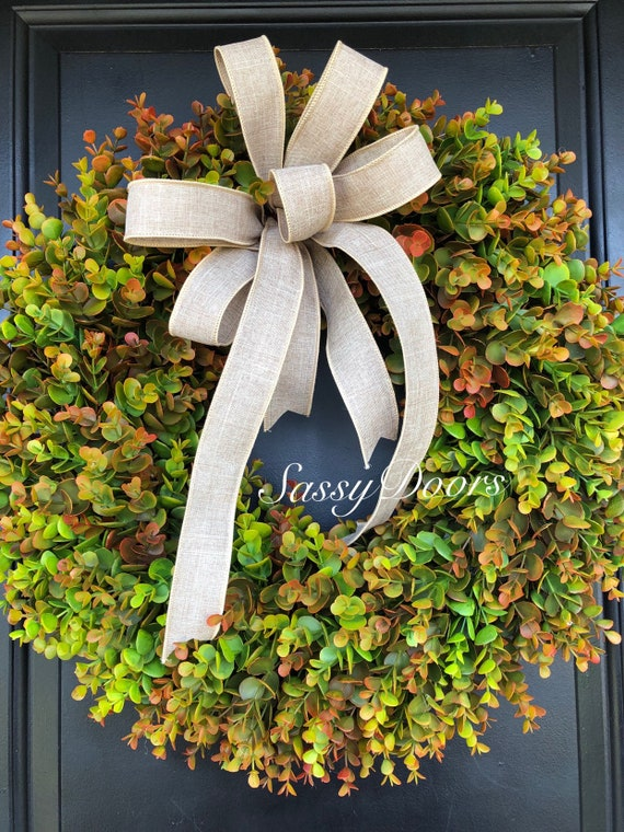 Fall Boxwood Wreath,  Farmhouse Wreath , SassyDoors Wreath