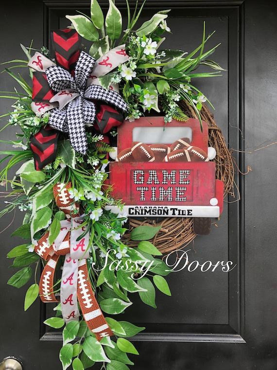 University Wreath, Football Wreath, College Football Wreath, Alabama Fan Gift, Sports Wreath