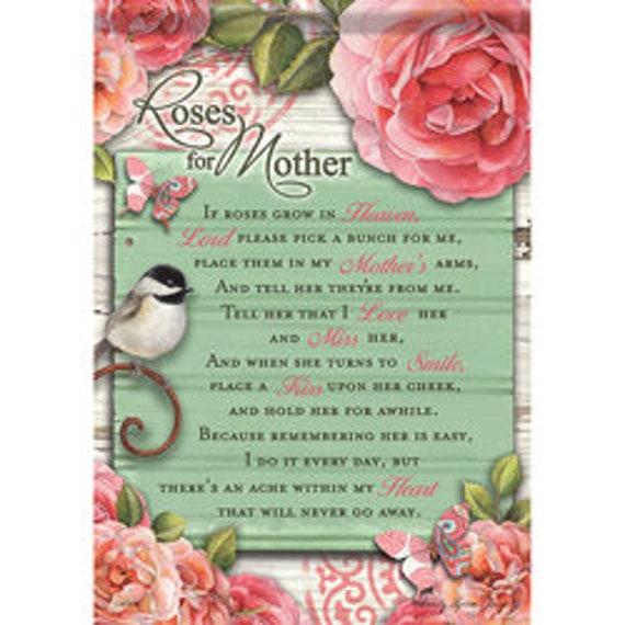 Roses For Mother Memory Garden Flag- Remembrance Flag, Inspirational  Flag, Memorial Garden Flag
