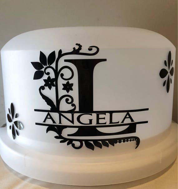 Monogram Cake Carrier, Personalized Cake Carrier, Bridal Gift, Personalized Gift,