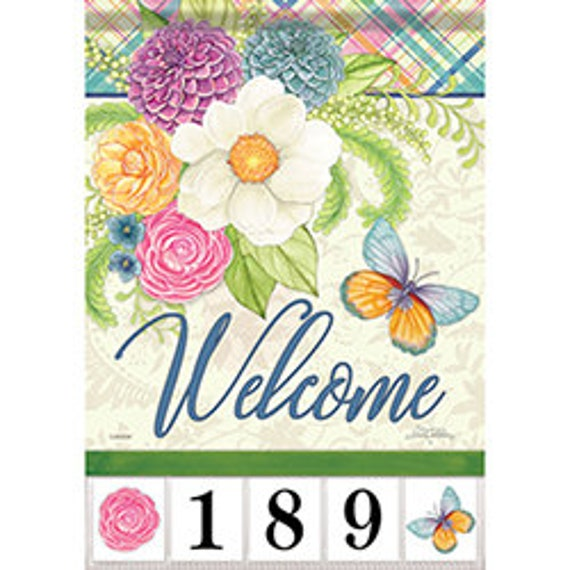 Address Flag, Spring Garden Flag, Customizable Flag, Address Garden Flag