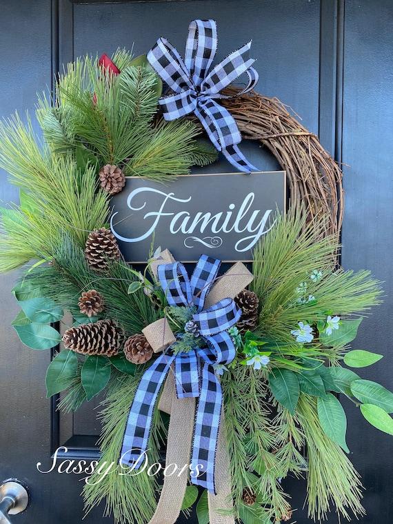 Woodland  Wreath, Front Door Cabin Wreath, Pine Wreath, Wreath,Lodge Wreath, Front Door, Sassy Door Wreath, Lake House Wreath