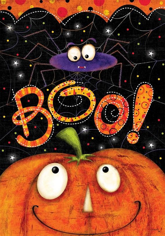 Halloween Garden Flag- Boo Flag- Garden Accent