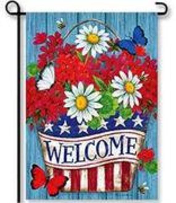 Patriotic Flag, Summer Flag, Garden Flag, July 4th Flag,Garden Flag, Summer Garden Flag