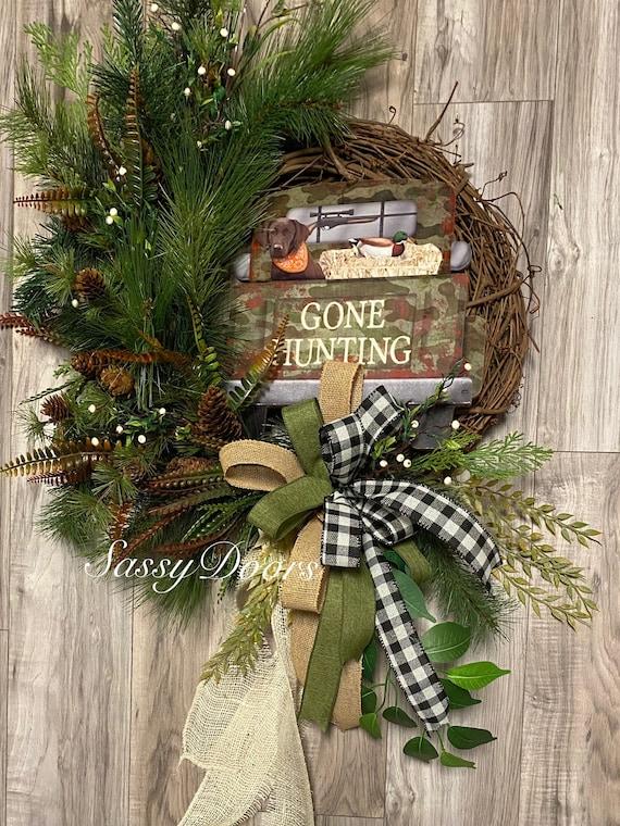 Woodlands Wreath, Hunting Wreath, Sports Wreath, Dog Wreaths, Wreath For Front Door,