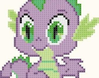 Pink Shrugging Pony Handmade Cross-Stitch DIGITAL Pattern Chart Bella Stitchery