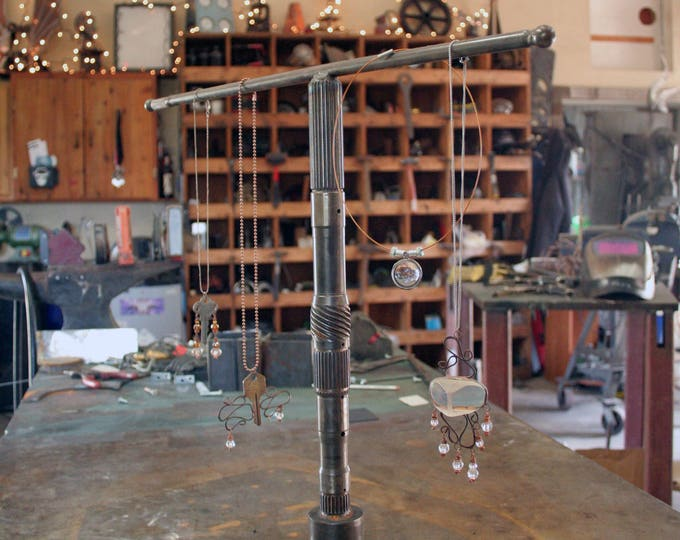 Steel Jewelry Stand made from Recycled Parts