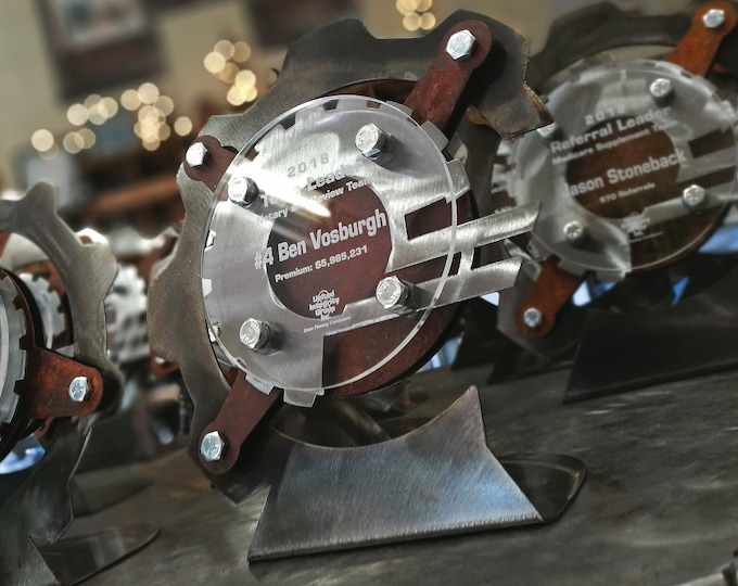Custom Metal Awards Made from Steel