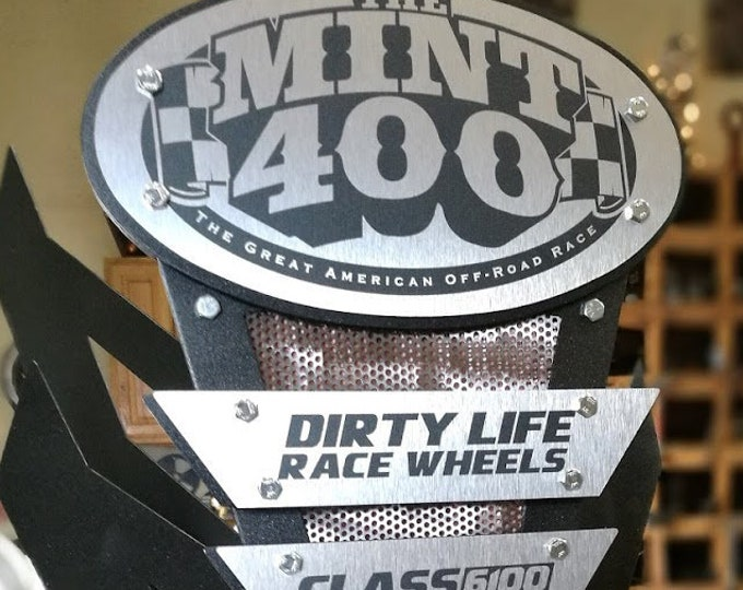 custom award trophy race metal mint 400 vegass
