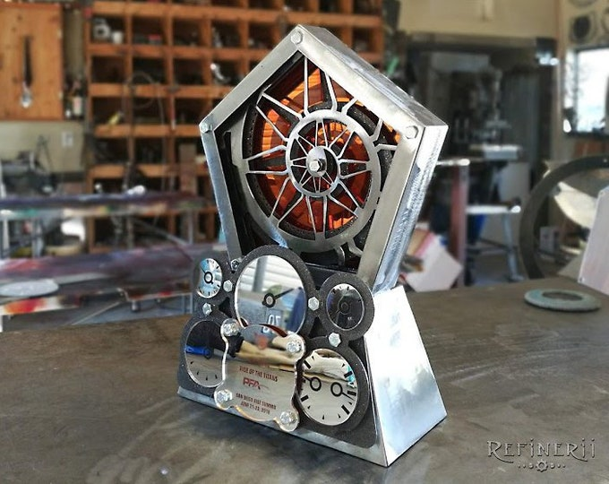 Custom Award Trophy made from Metal Shadowbox Design