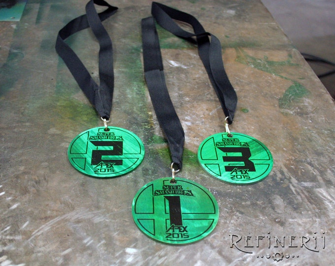 Lot of 10 Custom Award Medals made from Polished Aluminum