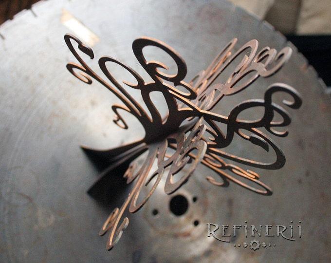 Rusty Steel Tree Sculpture Jewelry Holder