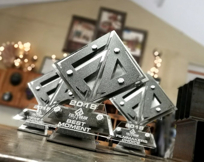 Custom Metal Award Trophy Diamond Design Logo