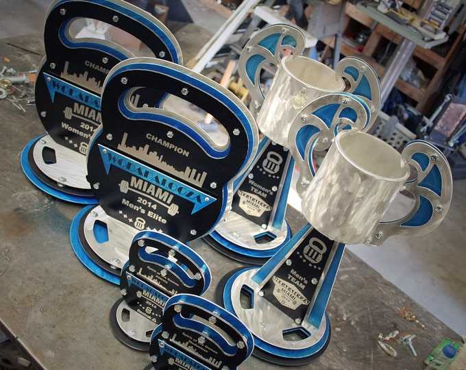 Custom Metal Trophies Crossfit Kettlebells Fitness Competion