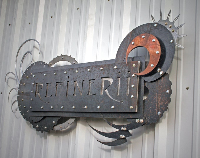 Custom Sign Made from Metals Business Signage