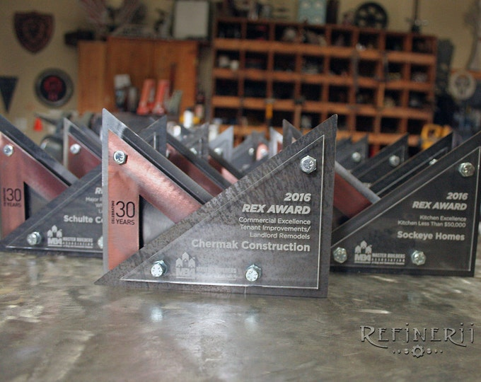 Custom Metal Award Trophy Modern Design Steel