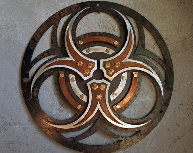 Metal BioHazard Wall Sign