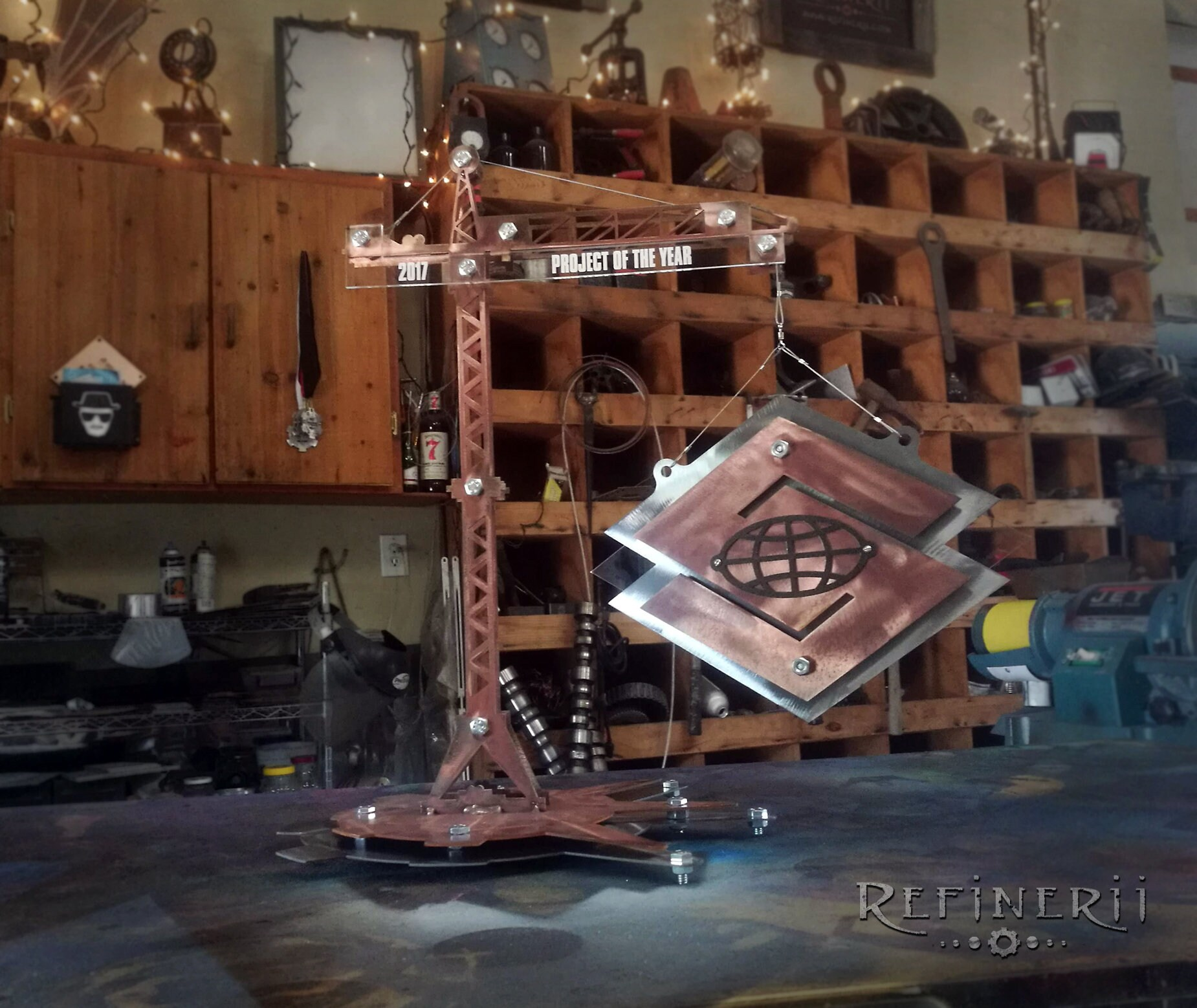 Industrial Tower Crane Trophy Award made from Metal