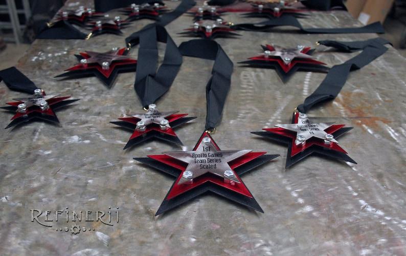 10 Custom Award Medals made from Metal Steel Aluminum Copper