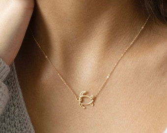 Gifts for Girls Boys Teens Turtle Sea Turtles Necklace Southwestern Sea Life Boho Chic Men/'s Necklace Women/'s Jewelry Gold Pink #80263-4