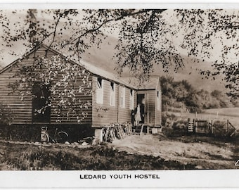 Ledard Youth Hostel, Trossachs overlooking Loch Ard,  Scotland, Vintage 1941 Postally Used Real Photo Postcard, United Kingdom