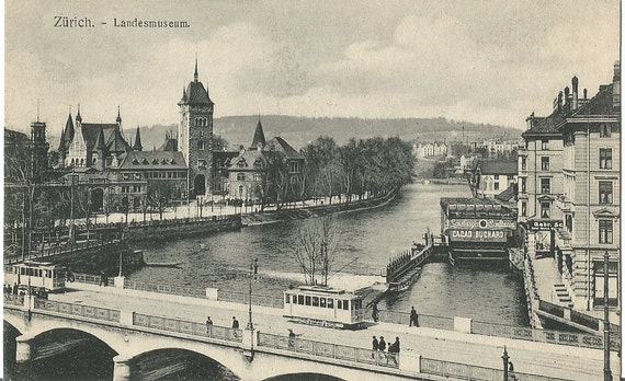 Landesmuseum - Zurich, Switzerland, Antique ca. 1918 Unused Postcard