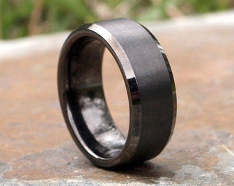 Bridal Wedding Bands Decorative Bands Stainless Steel Polished with Red Imitation Opal 8mm Mens Ring Size 8.5
