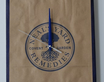 Neal's Yard Remedies stretched canvas clock