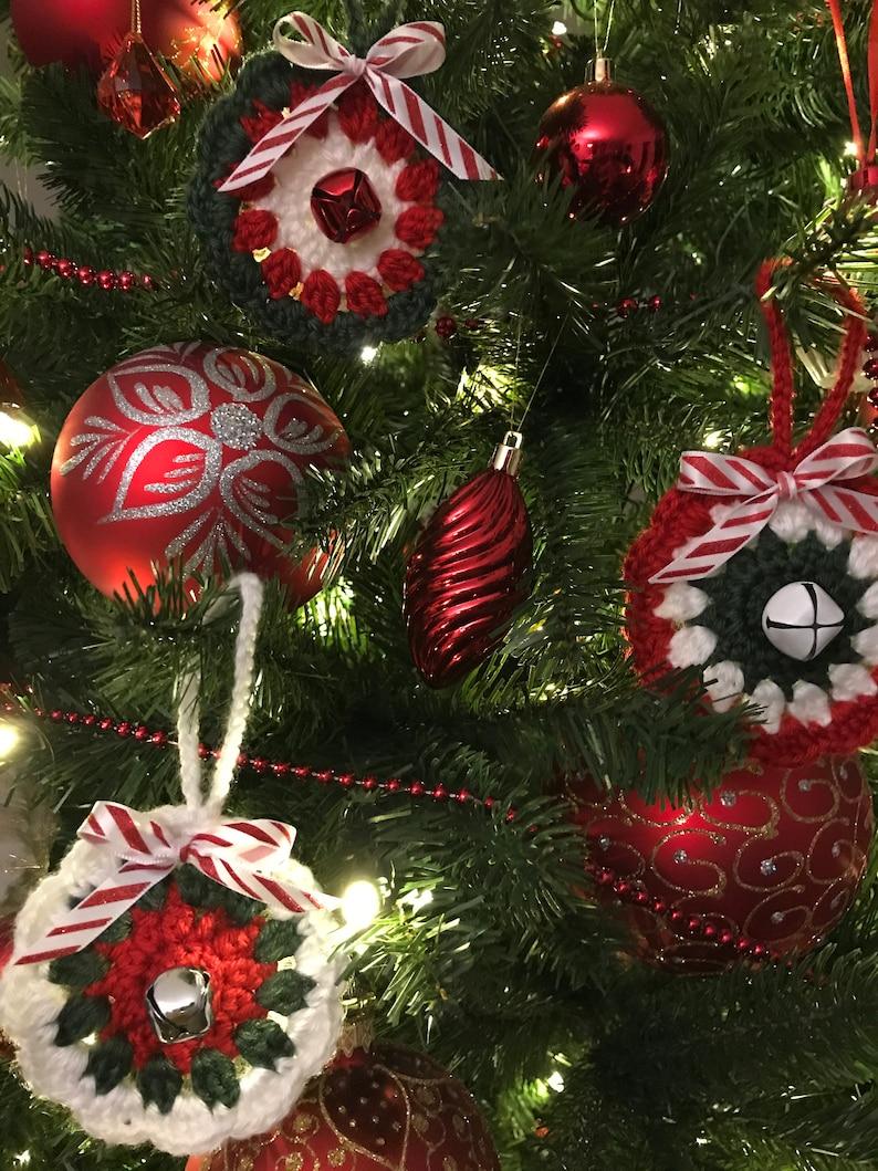 Crochet Christmas Ornaments set of 6,Crochet Christmas Mandalas Crochet Christmas,Christmas Decoration,Christmas Tree Decor,Christmas Gift