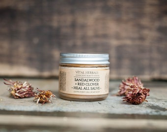 Sandalwood & red clover heal all salve, herbal first aid