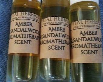Amber and sandalwood perfume