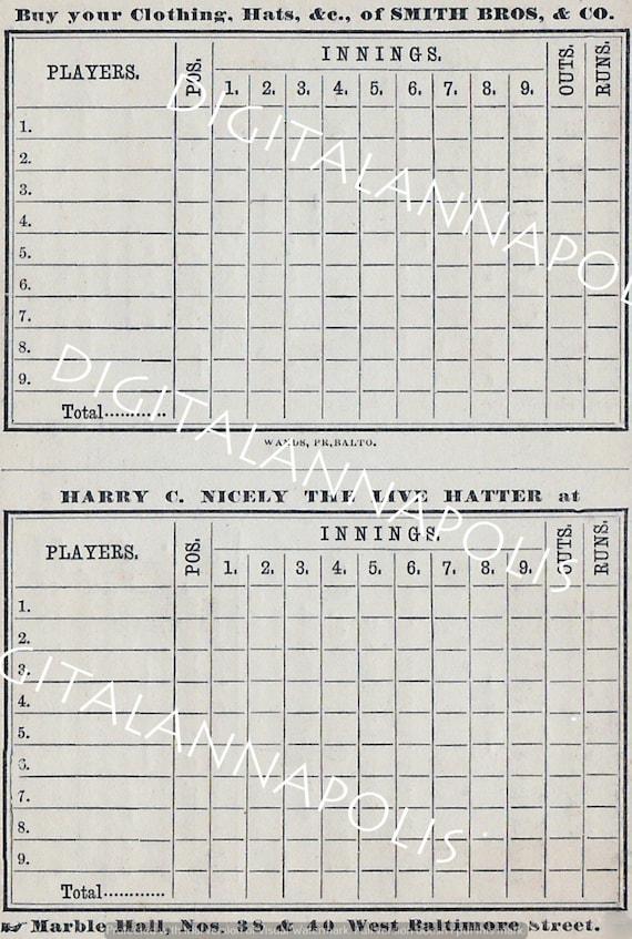 download baseball scorecard - Agadi ifreezer co