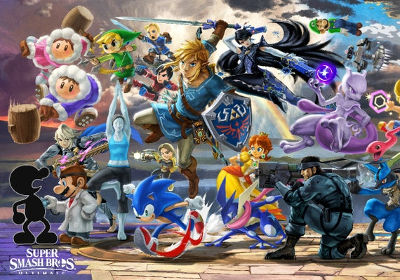 Super Smash Bros Ultimate 1 4 Poster 13x19 Etsy