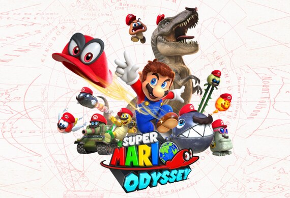 Super Mario Odyssey Characters Poster 13x19 Etsy