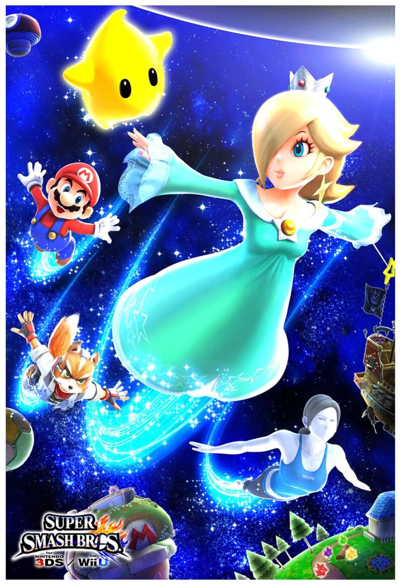 Super Smash Bros  Rosalina and Luma - Poster 13x19