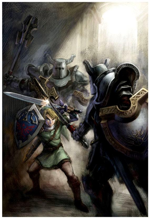 Twilight Princess Darknut Battle Poster 13x19
