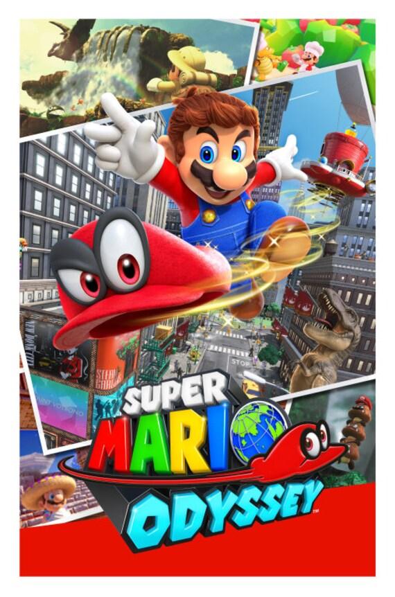 Super Mario Odyssey Poster 13x19 Etsy