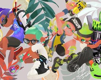 Splatoon 2 Anniversary - Poster 13x19