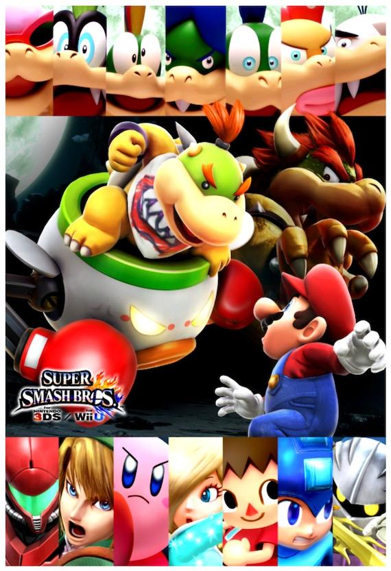 Super Smash Bros Bowser Jr Poster 13x19