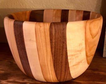 Segmented Bowl Maple, Cherry and Walnut