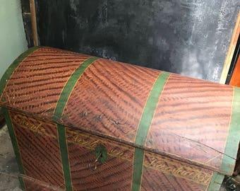 1837 wood grain dowry trunk-SALE 885.!