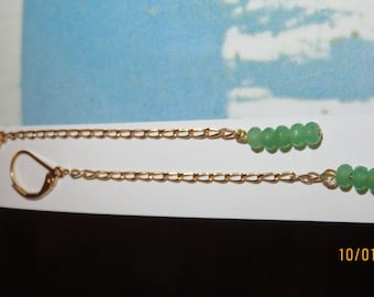 """Green """"JADE pearls"""" Stud Earrings"""