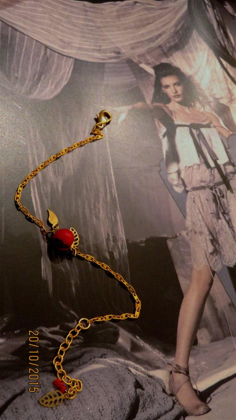 Red Acai seeds of the Brazil. Amazon bracelet