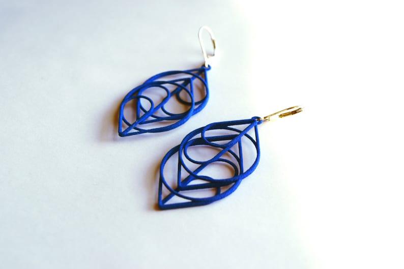 The Heart  Modern Striking 3D Printed Earrings. Free image 0